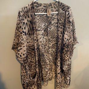 Bathing suit cover up 3x Leopard